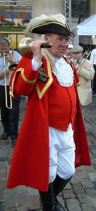 Image: Peter Moore, Town Crier to the Mayor of London and the Greater London Authority Credit: Chesdovi (http://en.wikipedia.org/wiki/File:Town_crier_Peter_Moore.JPG)
