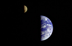 Voyager 1's 1977 Image of the Earth-Moon System Image credit: NASA